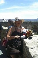 französiche Touristin in Ronda